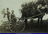 Lewis Family Children on Horse Drawn Cart circa 1930s