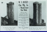 Advertisement for Dickey Clay Silos