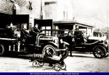 Macomb Fire Department and Trucks circa 1930