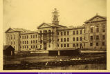 WIU Sherman Hall during construction 1899