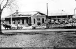 Macomb Railroad Depot During Construction early 1910s