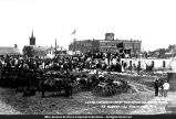 Laying Cornerstone for McDonough County Courthouse 1869