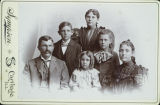 Cabinet Card of Hancock County Residents McMillen Family