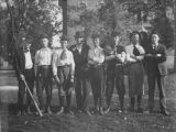 Bushnell Young Men with Baseball Gear circa 1890