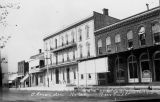 Alexander Hotel on W Main St in Bushnell, early 1900s