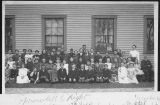Prairie City School Class and Teachers circa 1900