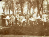 Group of Children with Bicycles Bushnell early 1900s