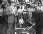 Groundbreaking for Malpass Library 1975