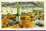 Postcard Depicting Caterpillar Peoria Display Room