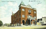 Auditorium Theatre in Galesburg circa 1909