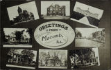 Postcard Dated 1924 with Various Views of Macomb