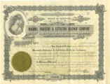 Certificate for Two Shares of Stock in M.I. & L. Railroad 1925