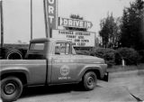 Fort Drive-In Truck and Marquee circa 1960s