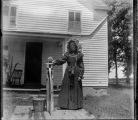 Unidentified Woman at Pump