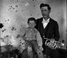 Unidentified Man and Boy with Trumpet