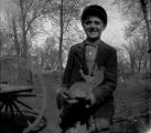 Unidentified Boy with Squirrel