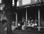 Unidentified Group of People on Porch
