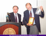 President Goldfarb Presents Award to John Hallwas 2004