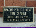 Macomb Public Library Time Capsule 2003