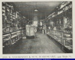 Interior of James E. Voorhees and Son Hardware Bushnell