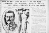 002578.JPG Article Announcing Death of Franz Ferdinand