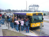 WIU Students Board a Go West Bus