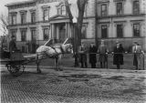 Horse and Buggy in Macomb Square c. 1929