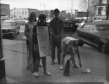 Group of Protesters on Macomb Square c. 1950s