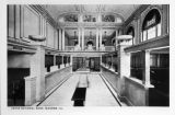 Union National Bank Interior Postcard c. 1917