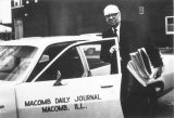 Rudolph, William with Macomb Journal Car