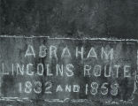 Marker Indicating Abraham Lincoln's Route