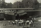 Colchester Train Wreck at Simpson & Co. Lumber Building