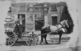 Macomb Dairy Horse and Wagon and Driver Kenneth Rigg