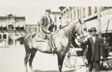 Unidentified Men with Horse on Macomb Square c. 1890