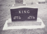 King, Keith T. and Eva A. Tombstone in Mt. Auburn Cemetery 2004