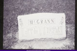 McGrann, Edna and William Tombstone in Mt. Auburn Cemetery 2004