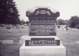 Zimmerman, Charles and Iva Tombstone in Mt. Auburn Cemetery 2004