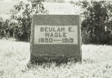 Wagle, Beulah E., Second Wife to Kelly Wagle
