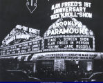 Big Al Sears' name on Brooklyn Paramount Theater sign