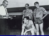 Members of a Track Team and Coach Dick Abbot WIU circa 1965
