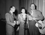 Recording Session of Burl Ives Circa 1930s
