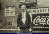 Harry Dougherty at His Macomb Grocery Store