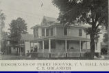 Residences of Perry Hoover, V.V. Hall, and C.E. Oblander
