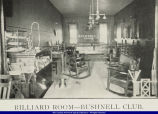 Billiard Room of the Bushnell Club Bushnell