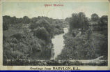 Postcard of Spoon River at Babylon Illinois circa 1922