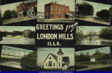 Postcard from London Mills 1911