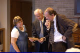 Marla Vizdal, Lawrence Graham and John Hallwas during L.Y. Sherman Presentation 2003
