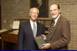 Lawrence Graham and John Hallwas during L.Y. Sherman Presentation 2003