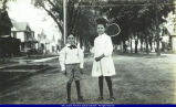000950.JPG Macomb Boy and Girl in Street c. 1900