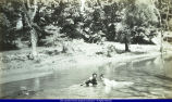 Girls swimming in Lamoine River circa 1900